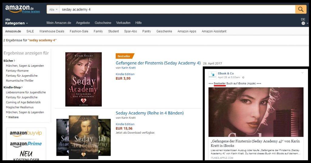 Bestseller-Titel für Seday Academy 4