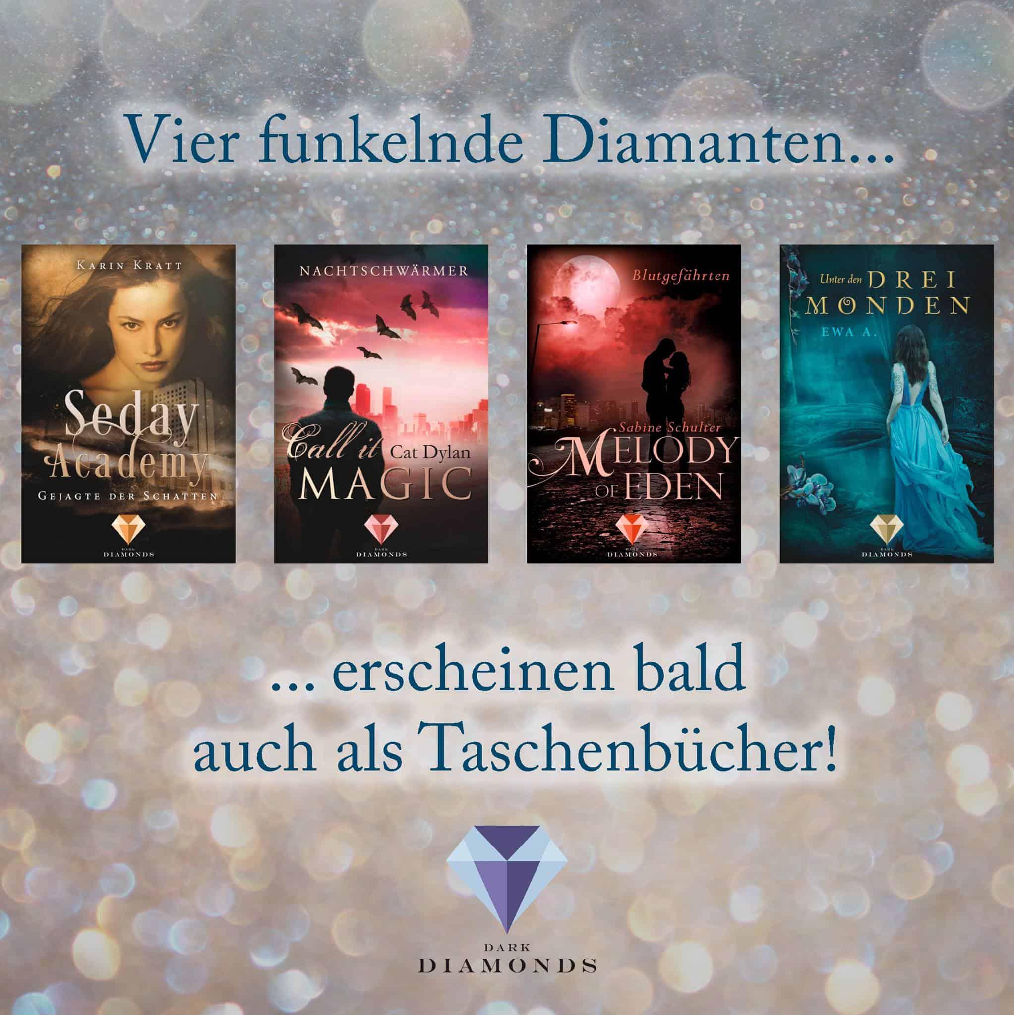 Ankündigung: Print von Dark Diamonds-Romanen