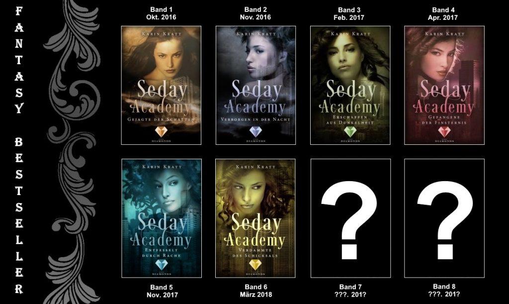 Seday Academy Übersicht ersten acht Bände