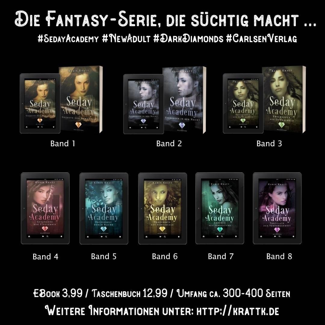 Seday Academy Band 1-8 von Fantasy-Autorin Karin Kratt